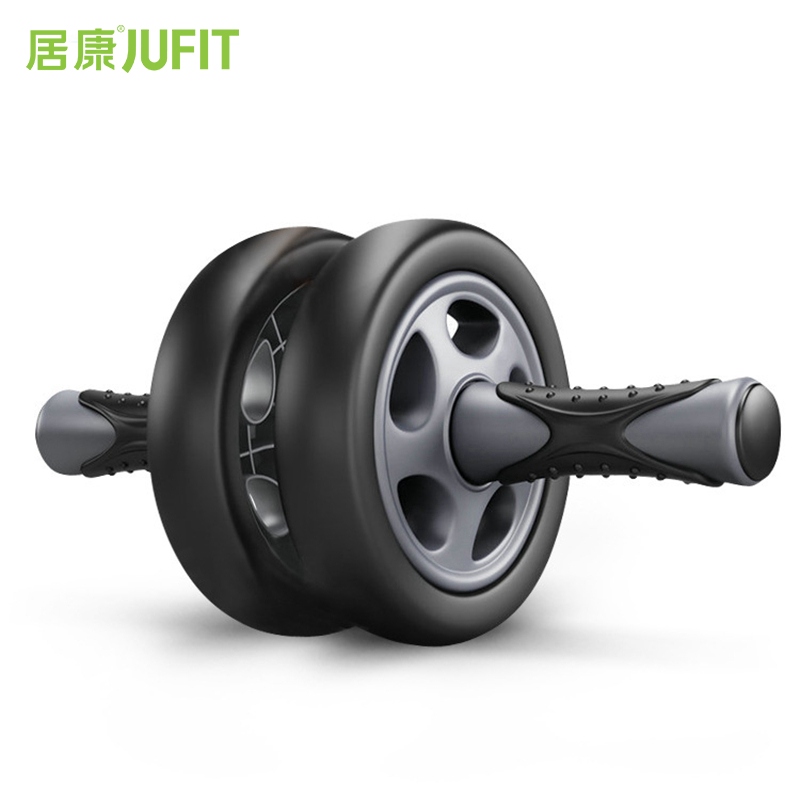 JUFIT No Noise Abdominal Wheel Double-Wheeled Ab Roller Trainer Fitness Equipment Gym Exercise Men Body Building new arrival high quality exercise equipment professional 4 wheels abdominal ab roller indoor fitness crossfit equipment