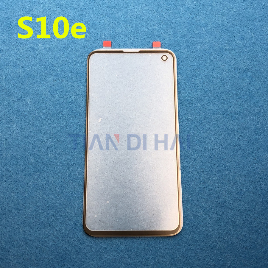 S10E Original LCD Screen Outer Glass Lens For Samsung Galaxy S10e G970 G970F S10 E 5.8'' Front Outer Glass Lens Replacement