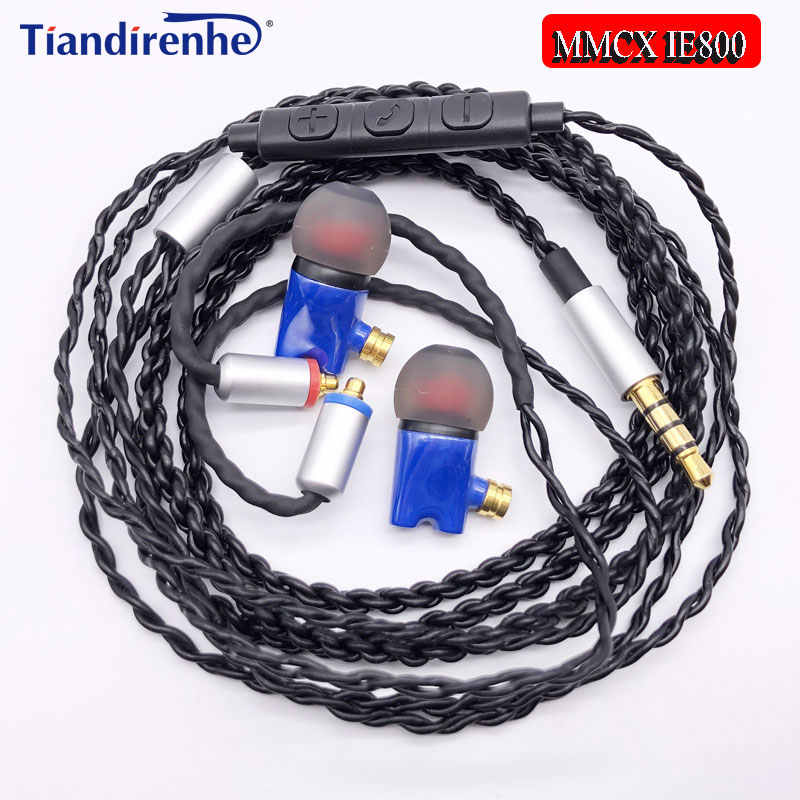 Newest IE800 Earbuds HiFi In-ear Ceramic Earphone Earbud Earbuds Wth MicTop Quality mmcx Headset cable For shure SE215