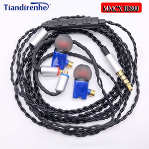Image 1 - Mais novo ie800 fones de ouvido de alta fidelidade in ear cerâmica fone earbud wth mictop qualidade mmcx cabo para shure se215