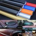 100x30cm DIY Waterproof Carbon 3D Sticker Car Decal Fiber Vinyl Wrap Roll Available Decorative Film Sheet Vinyl Decorative Film