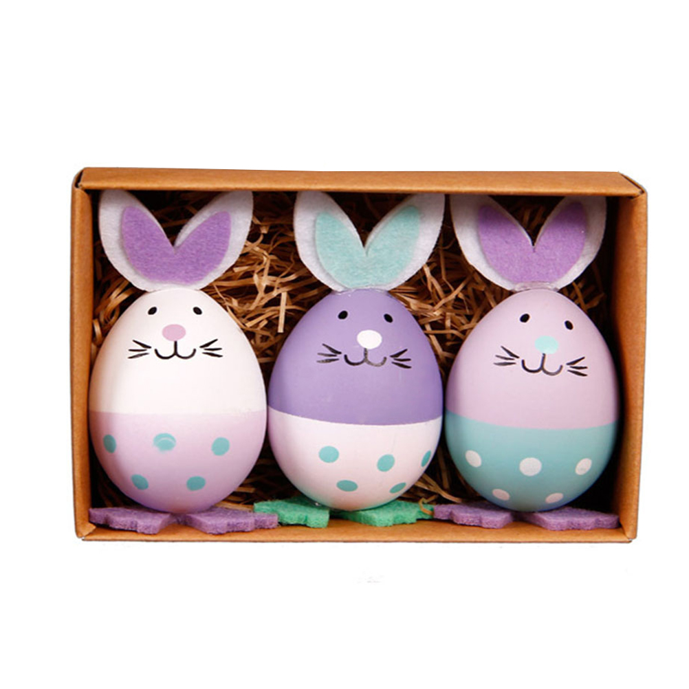 1pcs Funny Chick Design Plastic Coloring Painted Easter Eggs With Sticks Kids Gifts Toys For Christmas Easter Home Party Favors Selected Material Toys & Hobbies