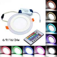 Design di Colore RGB Con Telecomando 6 W 9 W 16 W 24 W Rotondo LED Da Incasso AC85-Con Il Video per il vostro riferimento Trasporto libero