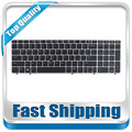 New US Laptop Keyboard With Silver Frame And Pointer  For HP EliteBook ProBook 6560B 6565B 6570B 6575B 8560P Series