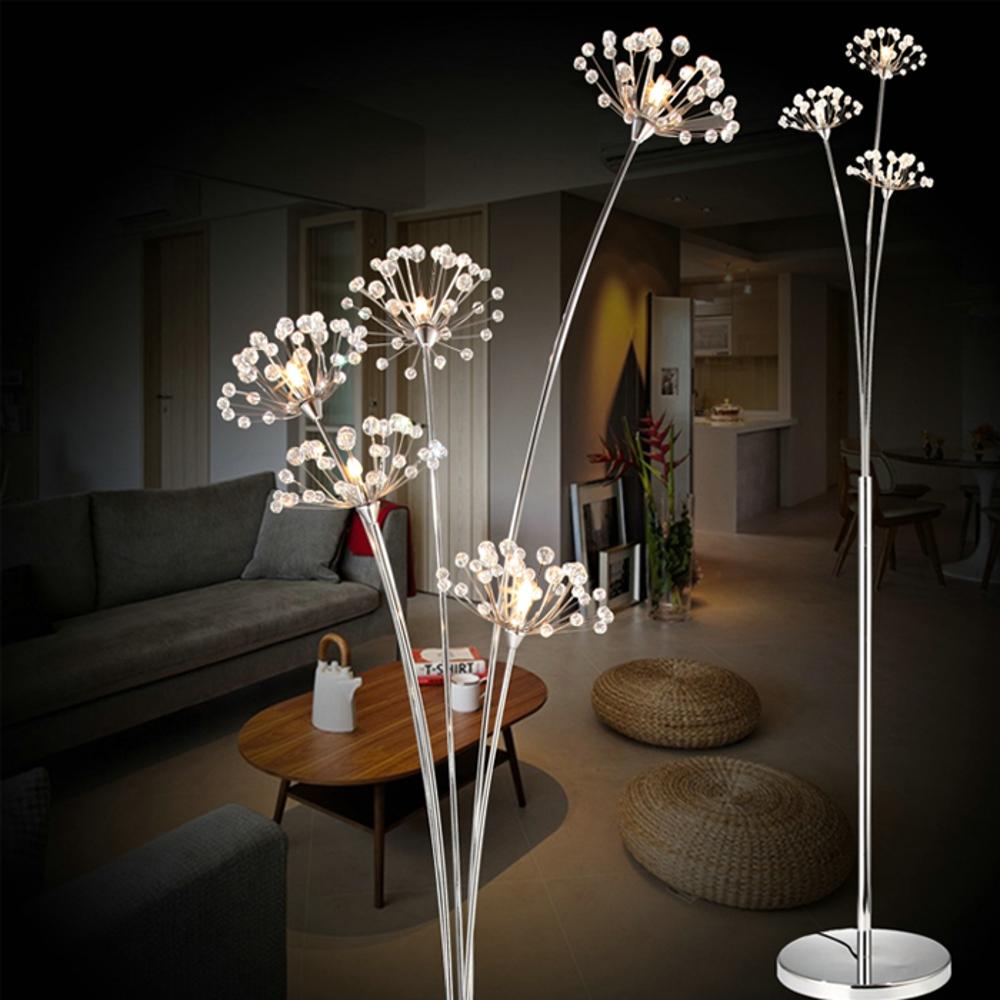 Neue moderne kristall stehleuchte für wohnzimmer dekorative led stahl stehen lampen schlafzimmer klassischen licht durch italien