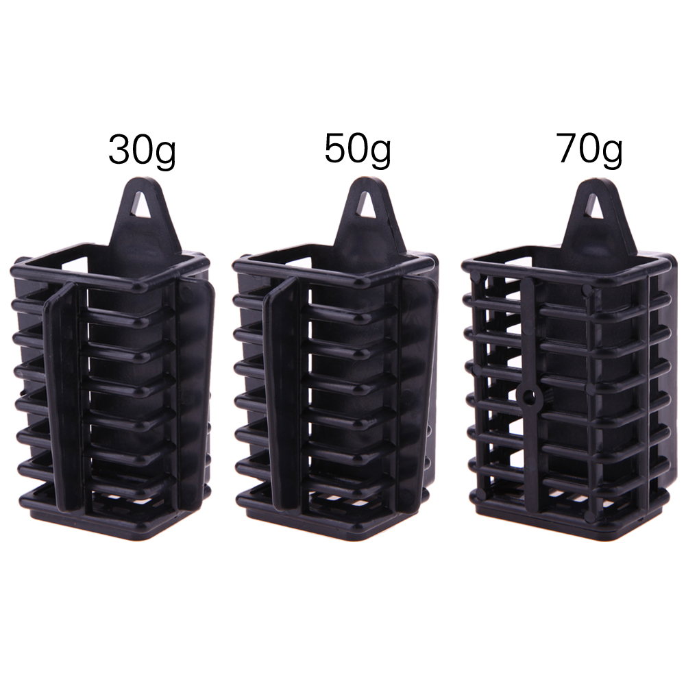 Carp Fishing Feeder Bait Cage Lure Holder Basket Cage Fishing Trap Fishing Accessory with Lead Sinker 30g 50g 70g New Arrival image