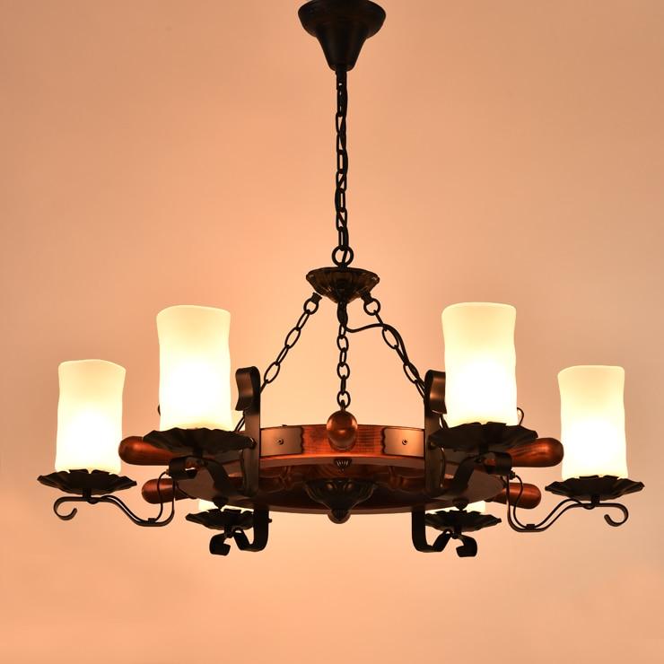 Acquista all'ingrosso Online legno intagliato lampadario da ...