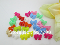 CM550 Lot 200 Mixed Colours Bow Bowknot Shank Button For Clothes Sewing Craft