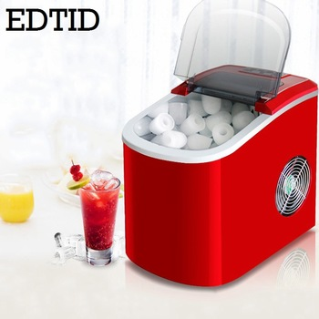 Commercial Automatic Ice Cube Maker Household Portable Electric Bullet Round Ice Making Machine 15kg/24H Coffee Bar Teamilk Shop