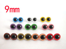9mm 10 Color Plastic Safety Eyes For Teddy Bear Doll Animal Puppet Crafts–100pcs