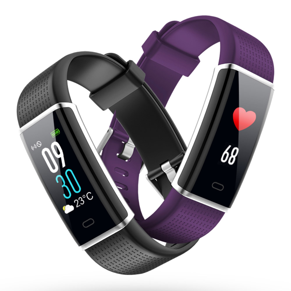 ID129 Plus Color Display Smart Wristband Band Sports Bracelet Heart Rate Activity Fitness Tracker for IOS Android PK Mi Band 2