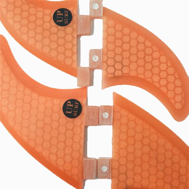 Surf FCS Fin Honeycomb Orange / Blue Surfboard Fin Quilhas FCS- G5 + - Ջրային մարզաձեւեր - Լուսանկար 5