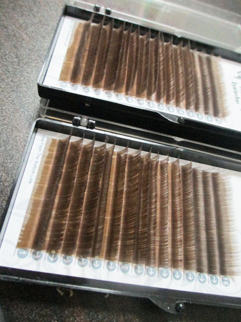 0cf23f661c4 16 lines Top quality Mix Size brown eyelashes mix length brown eyelash  extension brown eye lashes 5pcs/lot-in False Eyelashes from Beauty & Health  on ...