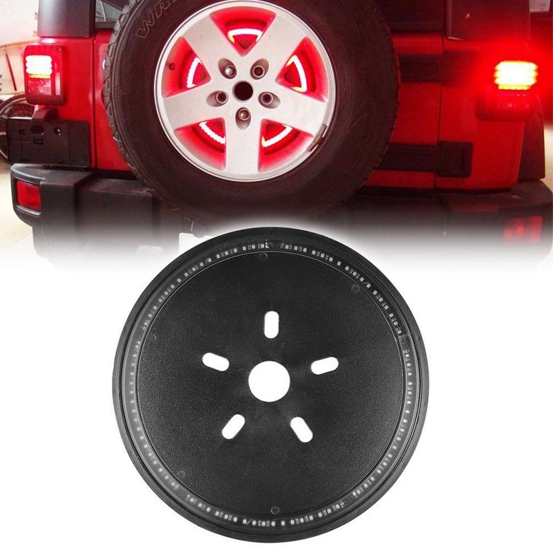 Spare Tire Rear Wheel 3rd Brake LED Decoration Light For Jeep Wrangler 07-17