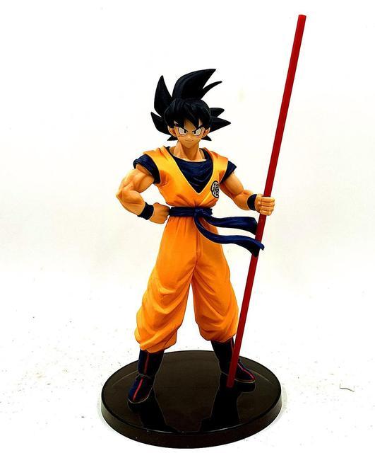 Dragon Ball Z Goku 50. Rocznica Ruyi stoi Ver. Figurka DBZ pamiątkowe kufry Vegeta model super saiyan 28cm