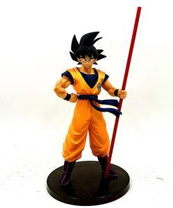 Image 1 - Dragon Ball Z Goku 50th anniversaire Ruyi debout Ver. Figurine DBZ commémorative troncs de légumes Super Saiyan modèle 28cm