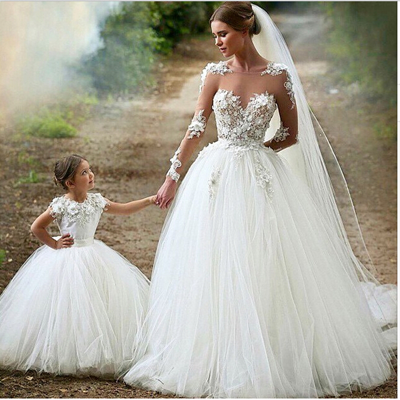 2017 New Romantic Wedding Dresses Long Sleeve Vestido De Novia ...