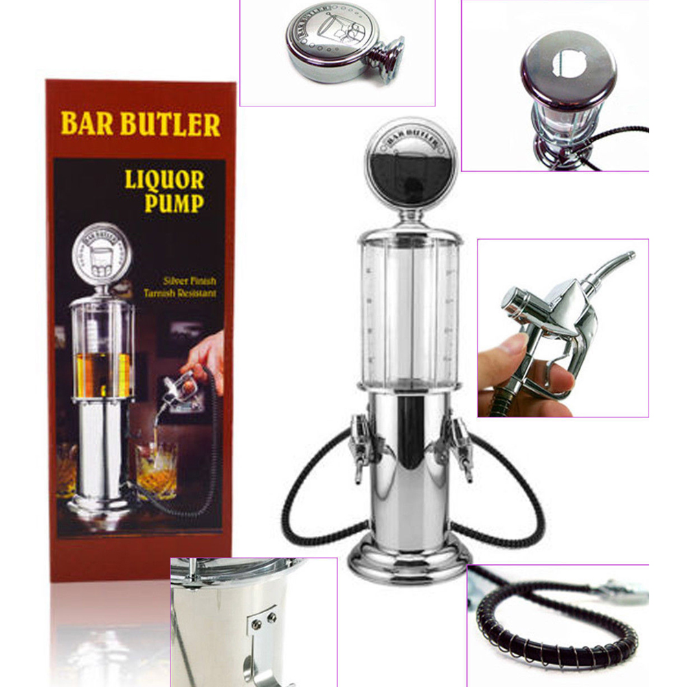 Zorasun Silver Double Gun Beer Dispenser Bar Butler Liquor Wine Soft ...