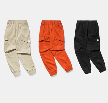 2018 New Arrival Pockets Harem Pants Mens Hip Hop Patchwork Tapes Joggers Trousers Male Fashion Casual Pants Streetwear