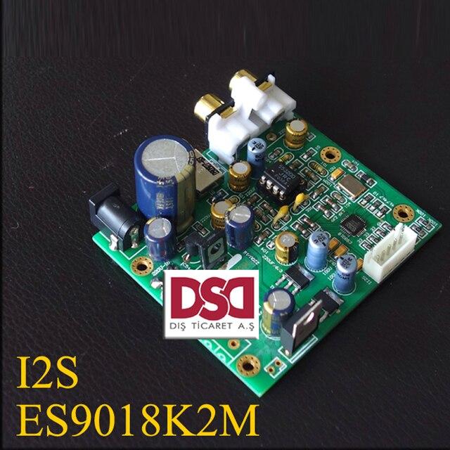 New Breeze Audio ES9018K2M ES9018 I2S Input Decoding Board Mill Plate HIFI DAC Supports IIS-32bit 384K / DSD64 128 256