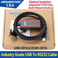 USB CIF31 Isolated Cable CS1W CIF31 USB To RS232 Conversion Cable FTDI High Quality Programming Cable Support Win7,XP