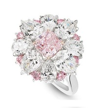 Luxury AAA Zircon Flower Female Ring 100% Real 925 Silver Jewelry rings For Wedding Engagement Elegant Fashion ring Girl Gift