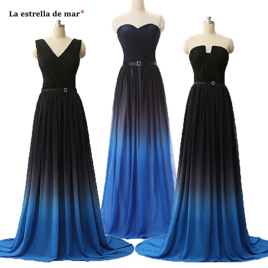 maid of honor   dresses   for weddings 2019 hot chiffon sexy V neck A Line 3 style royal blue gray mint green   bridesmaid     dress   long