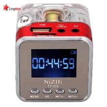 Mini Digital Portable Music MP3/6 Player Micro SD/TF USB Disk Speaker FM Radio BFQ025