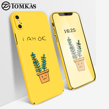 TOMKAS Luxury Case For iPhone X iPhone 10 Case Cute Cover Silicone PC Back Cartoon Coque Matte Cases For iPhone X 10(China)