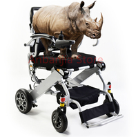 Cheap price New generation Aluminum Outdoor Power Electric Folding Wheelchair with lithium battery
