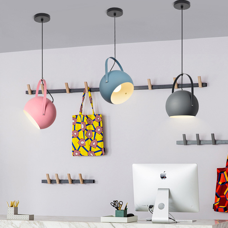 Modern LED Pendant Lights colourful Dining room Restaurant Pendant Lamps E27 electric Wire Home Decration Lighting fixtures in Pendant Lights from Lights Lighting