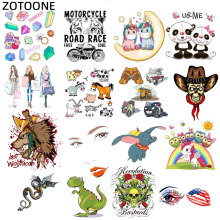 ZOTOONE DIY Iron on Transfers Patches for Clothing Stickers Unicorn Girl Heart Patch Applique Childrens Clothes E