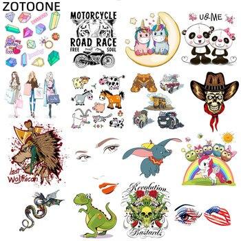 Zotoone Fai da Te di Ferro Sui Trasferimenti di Toppe E Stemmi per Abbigliamento Unicorno Adesivi Ragazza Cuore Trasferimenti Patch di Applique per Bambini Vestiti E