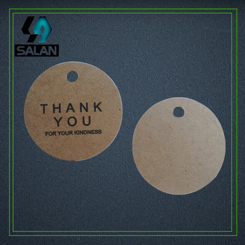 Wholesale stock thank you cards hang tags bookmarks for clothing paper printed gift tags custom hang tags hand work label image
