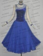 2015 New Style ballroom Standard Dance Dress Waltz Competition Dress Women royalblue Ballroom Dance Dress Sunflower