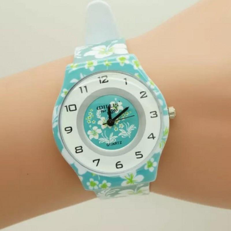 New Flower Women Quartz Fashion Willis Watch Round Dial Analog Wrist Watch With Ultrathin Plastic Band Relojes Relogio