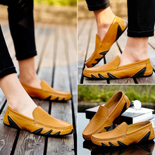 Men's peas shoes men's shoes Instagram England breathable driving shoes Korean version of the trend of lazy shoes casual shoes