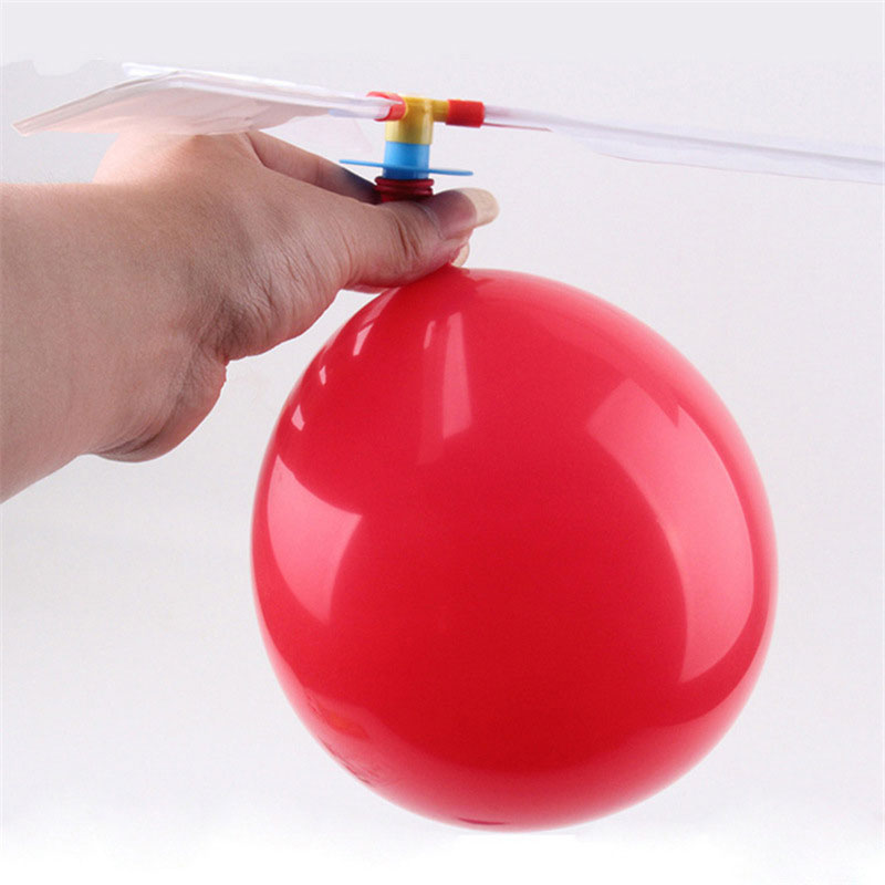 Traditional Balloon Airplane Helicopter Outdoor Toys Party Flying Toy Outdoors Fun Inflatable Toys Birthday Gifts For Children image
