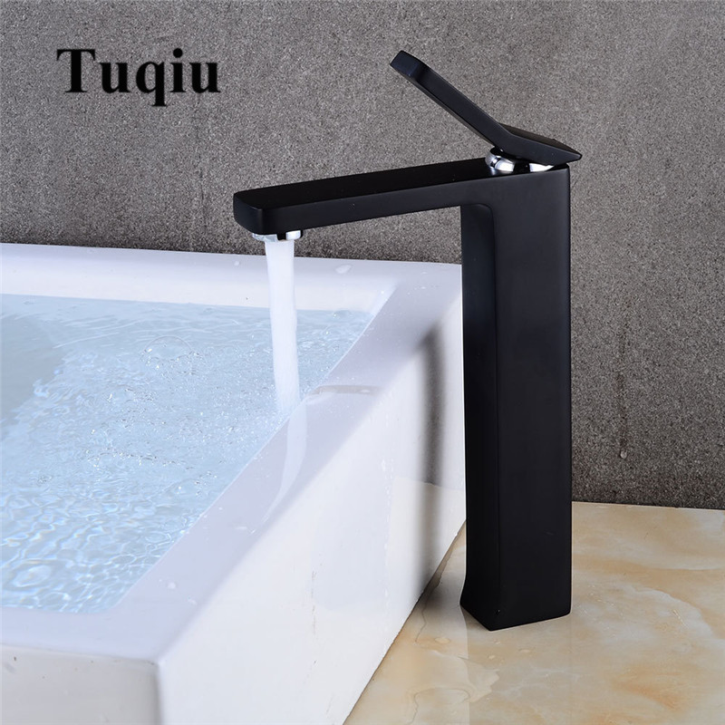 Basin Faucet Modern Black/White Bathroom Mixer Tap Brass Wash basin Faucet Single Handle Single Hole Square Crane For BathroomBasin Faucet Modern Black/White Bathroom Mixer Tap Brass Wash basin Faucet Single Handle Single Hole Square Crane For Bathroom