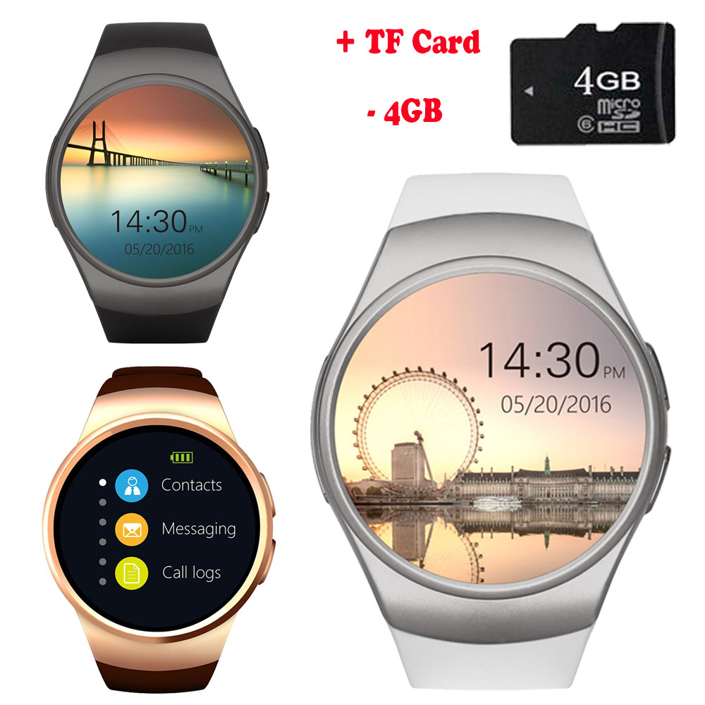 KW40 Bluetooth Smart Watch Phone Full Screen Support TF Card & SIM Card <font><b>Smartwatch</b></font> Heart Rate for Cubot X15 <font><b>X12</b></font> X17 X9 X6 Huawei image