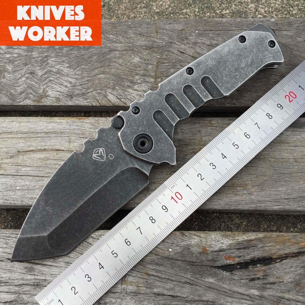 LDT Medford Praetorian TG01 Tactical Folding font b Knife b font 8CR13MOV Blade Steel Handle Camping