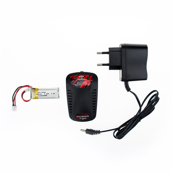 1pc 7.4V 300mAh Li-Po Battery with charger 30c For WLtoys F959 Airplane Spare Parts XK DHC-2 A600 RC Airplane wholesale