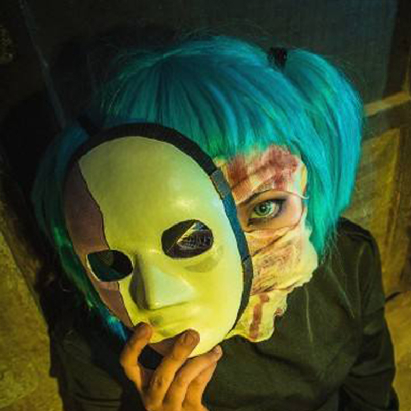 Sally Face Cosplay Mask Sally Face Costume Accessories Latex Half Face Helmet Horror Game Halloween Party Props Dropshipping
