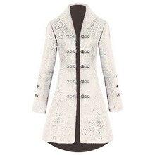 COSMORE Vintage retro long jacquard women's coat Waist strap Medieval Windbreaker