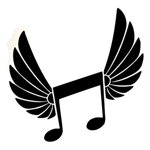 158cm157cm Interesting Music Wings Angel Melody Symbol Silhouette