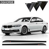 5D Carbon Fibre M Performance Car Door Side Racing Stripe Skirt Sill Sticker Decal For BMW 5 Series G30 G31 2018 Car Styling