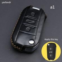 цена на car accessories key cover case araba aksesuar For Peugeot 3008 308 RCZ 508 408 2008 407 307 4008 flip folding remote