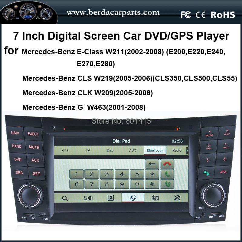 Car DVD/GPS player for Mercedes-Benz E-W211(2002-2008) Benz CLS W219(2005-2006)Benz CLK W209(2005-2006)