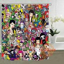Tokidoki Shower Curtain Personalized Custom Bath curtain Waterproof polyester curtain for family(China)