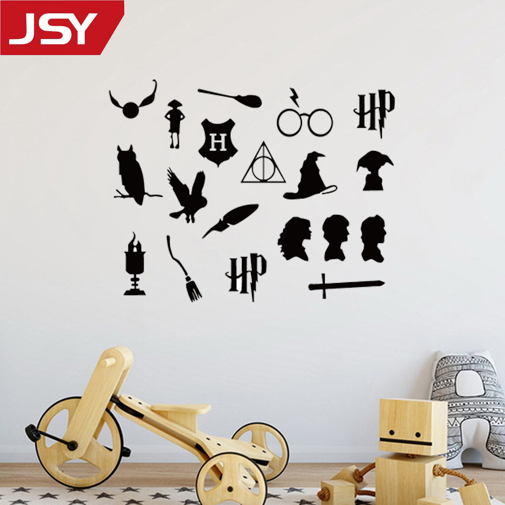 Amicable Jiangs Yu 19 Pcs Wall Stickers Set Harry Potter Vinyl Wall Stickers Vinyl Wall Decals For Kids Rooms Bedroom Home Decor Aromatic Character And Agreeable Taste